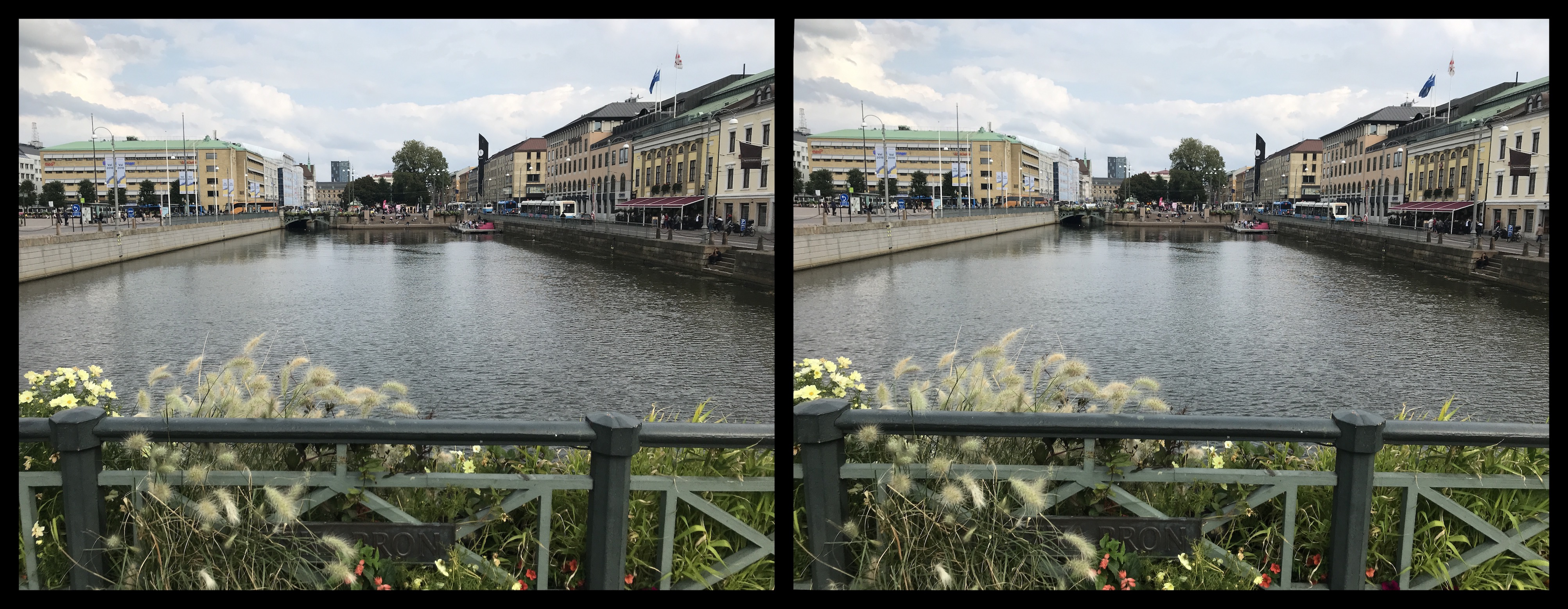 View from Fountain Bridge in Central Gothenburg (4.9% deviation)