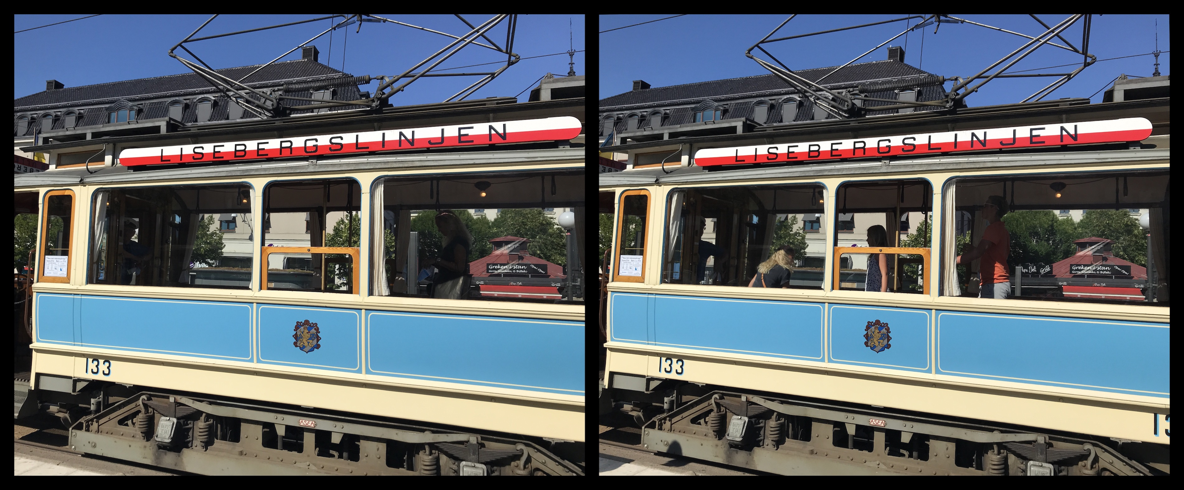 The Liseberg tram (8.7% deviation)